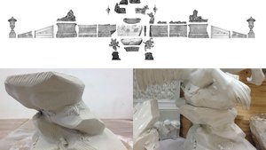 Mid-18th-Century Meissen Table Fountain' – 3D Scans and restored element, Steve Brown