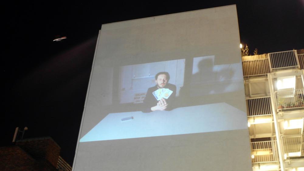 MAR Student Ewoud van Rijn Features in an Hour-Long Projection of Exchange Made Live at the RCA Battersea