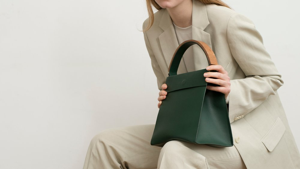 Position 001: Bottle Green Small Tote