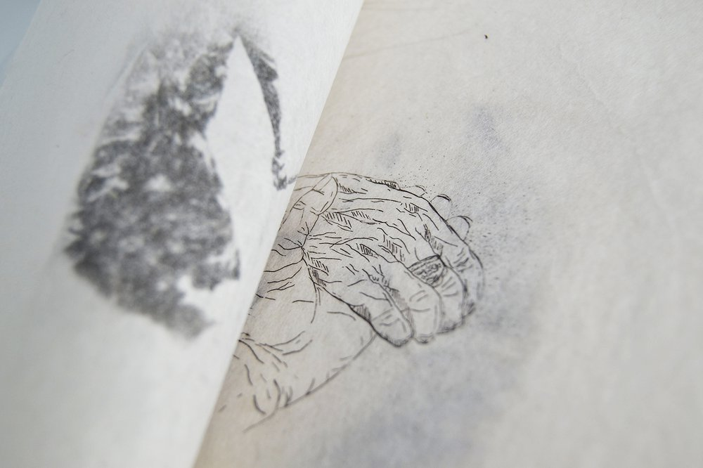 Her Hands with Mine - detail