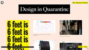 Design in Quarantine