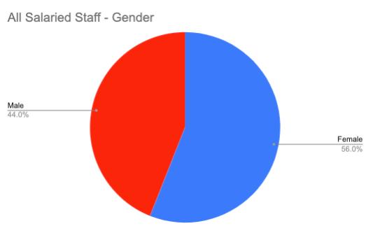 All Salaried Staff Gender
