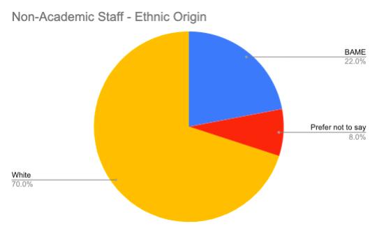 Non-academic Staff – Ethnic Origin