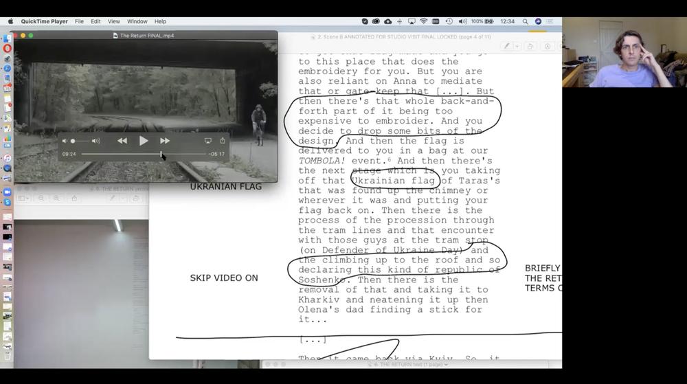 Textual Bodies: Online Studio Visit with Adam Walker