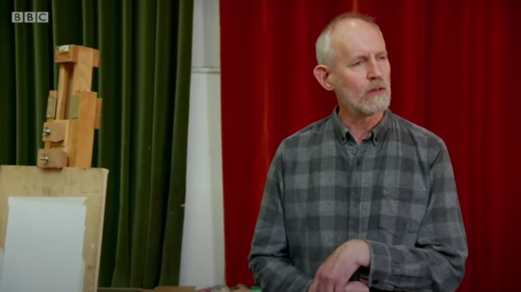 screenshot of a documentary featuring David Johnson