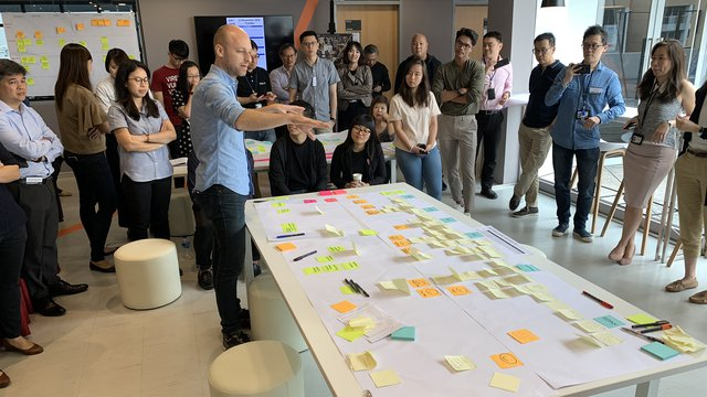Service Design Masterclass delivered by the RCA in Singapore, November 2018.
