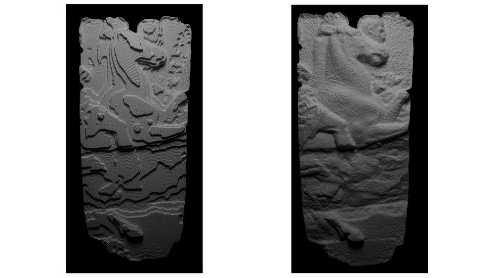 Rough Cut and Final Cut of Parthenon Frieze