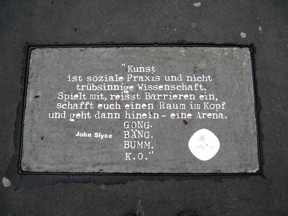 Text installation: pavement, Bregenz, Austria