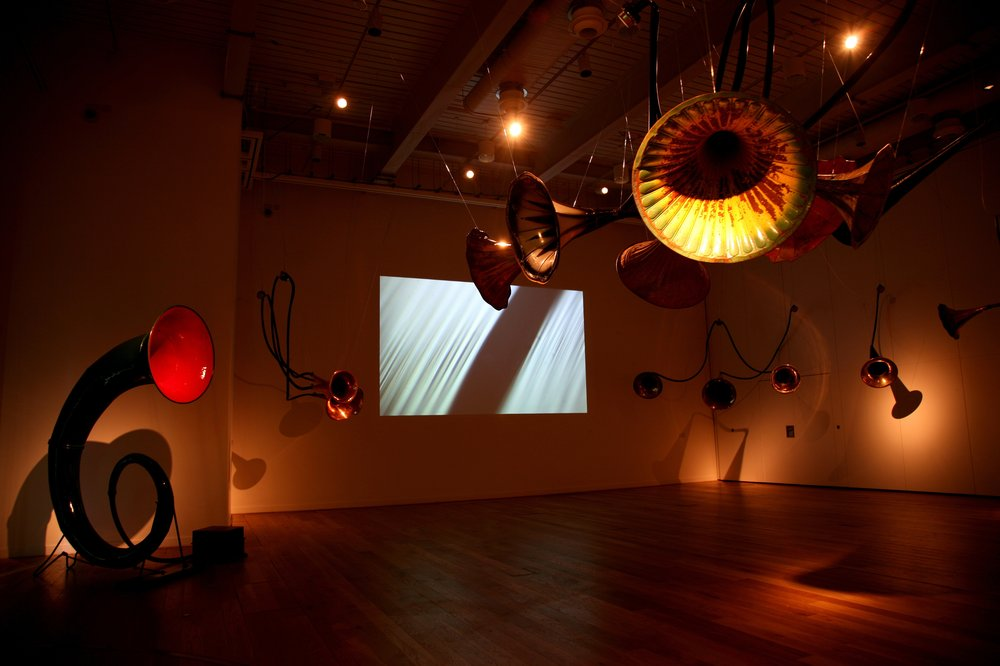 Installation view of 'Sound Seam' at Great North Museum, Newcastle, for AV Festival 10