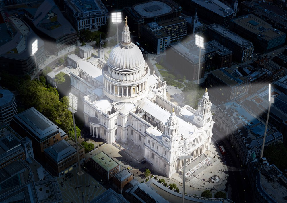 St Paul's Cathedral under Artificial Light