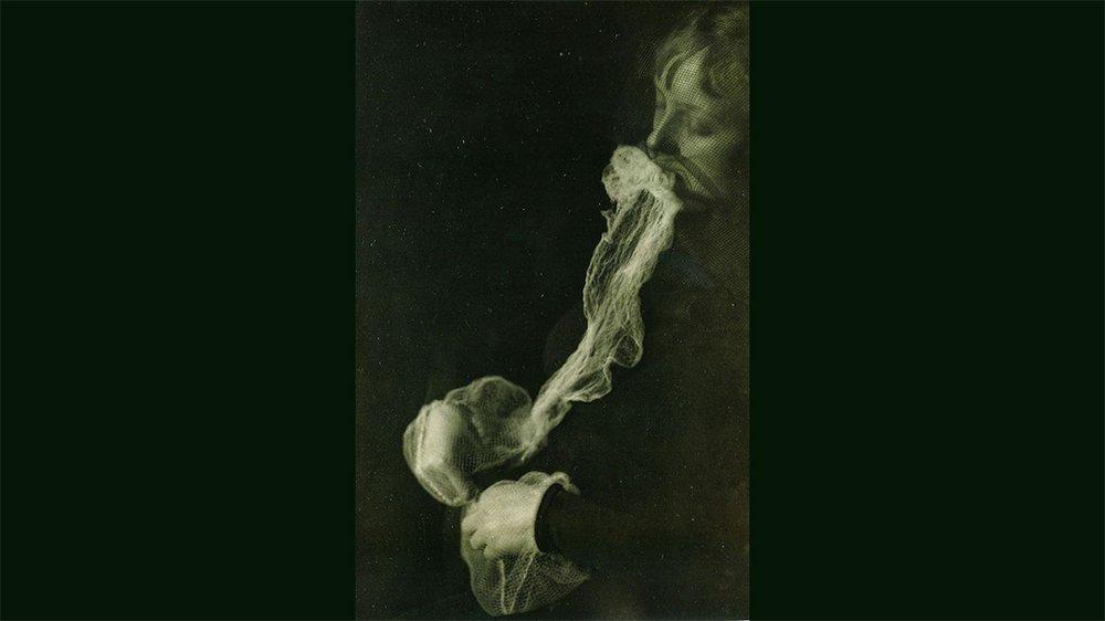 The Medium Stanislava P., producing ectoplasm at a seance