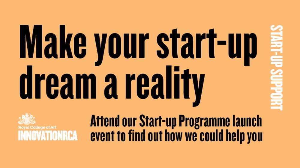 InnovationRCA Start-up Programme Launch Webinar