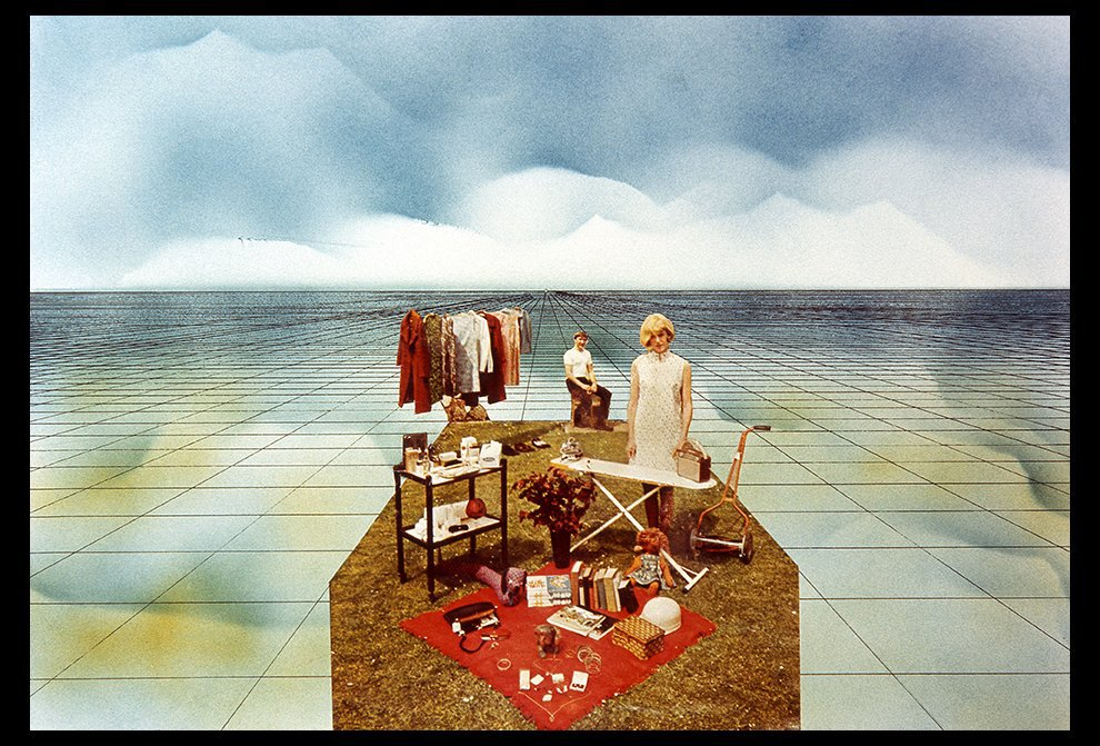 Superstudio, Supersurface: Happy Island, 1972, collage.