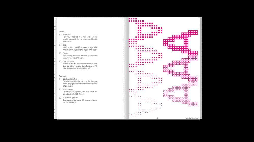 A guide to ______ing sustainability - book spread