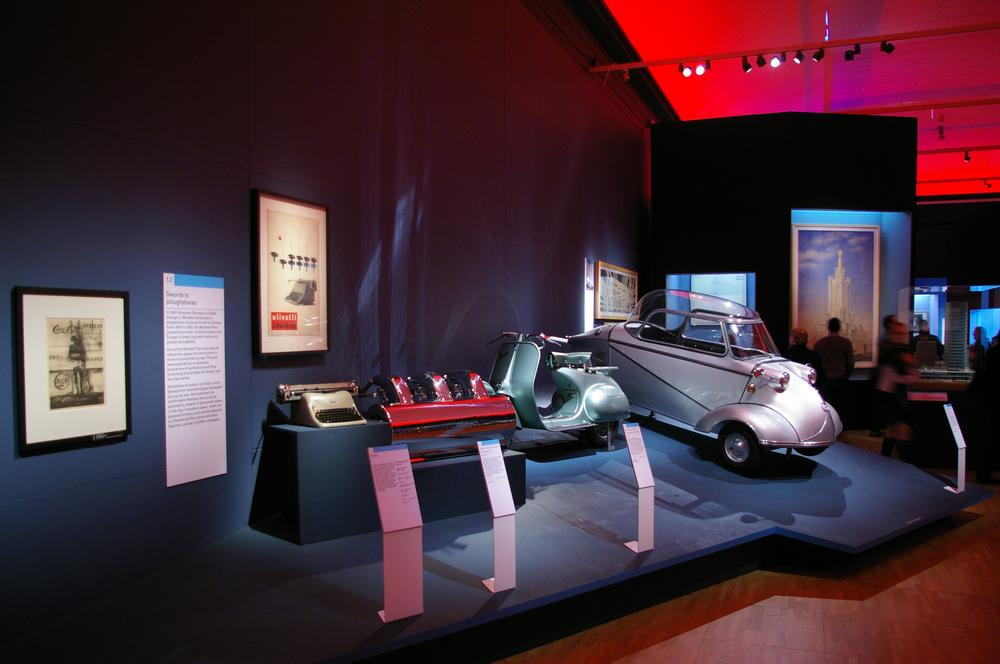 'Swords into Ploughshares', the Marshall Aid section in Cold War Modern, V&A (2008)