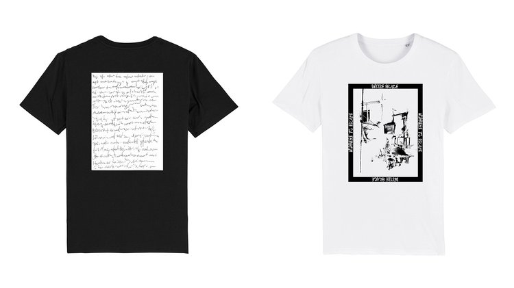 Images left to right: T-shirt designs by Sven Steinmetz and Victoria Petitjean