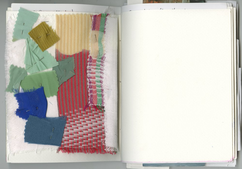 'with a sense of calmth but alive' - looking for, finding, matching, composing colours in discharge printing