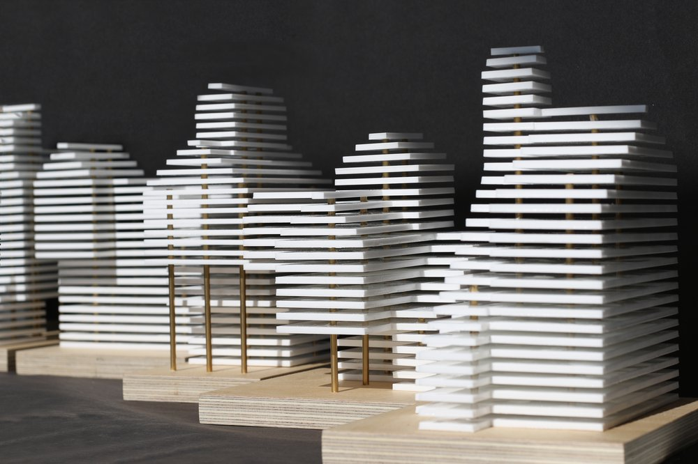 Prototype Models - Exploring abstracted agricultural form through the horizontal language of commercial floor plates