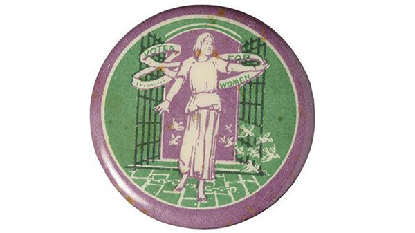 Angel or 'herald' mascot, designed by Sylvia Pankhurst. Used as the logo of The Women's Social and Political Union (WSPU)