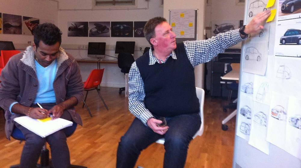 Project director Professor Dale Harrow (right) and co-director Rama Gheerawo in a project workshop