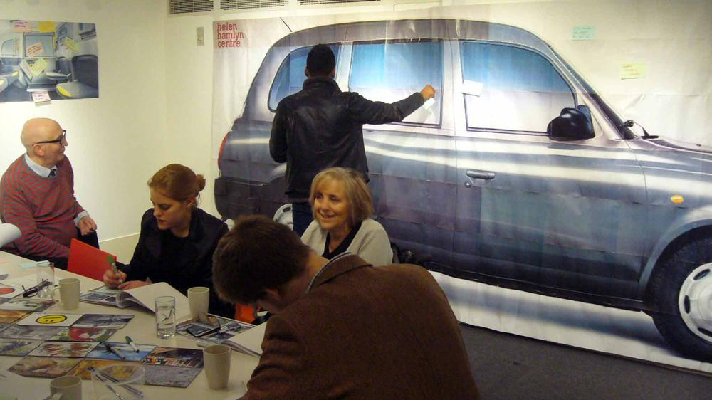 User workshop at RCA with passengers of different ages and abilities