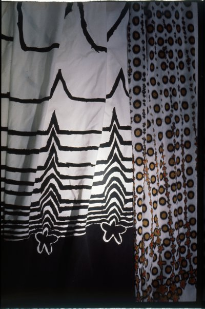 Zandra Rhodes, Screen print dress fabric, 1964
