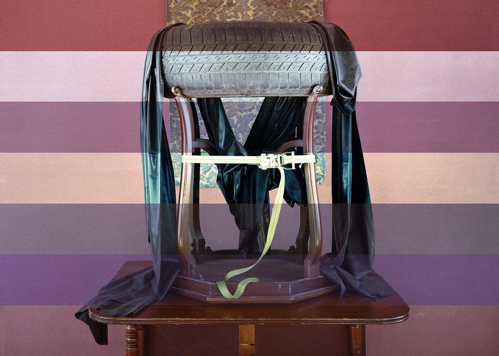 #Victorian #mahogany #diningtable #centretable #tyre #rubber #brocatelle #silk #ratchetstrap