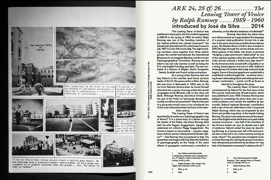 'The Leaning Tower of Venice' from ARK: Words and Images from the Royal College of Art Magazine 1950-1978.