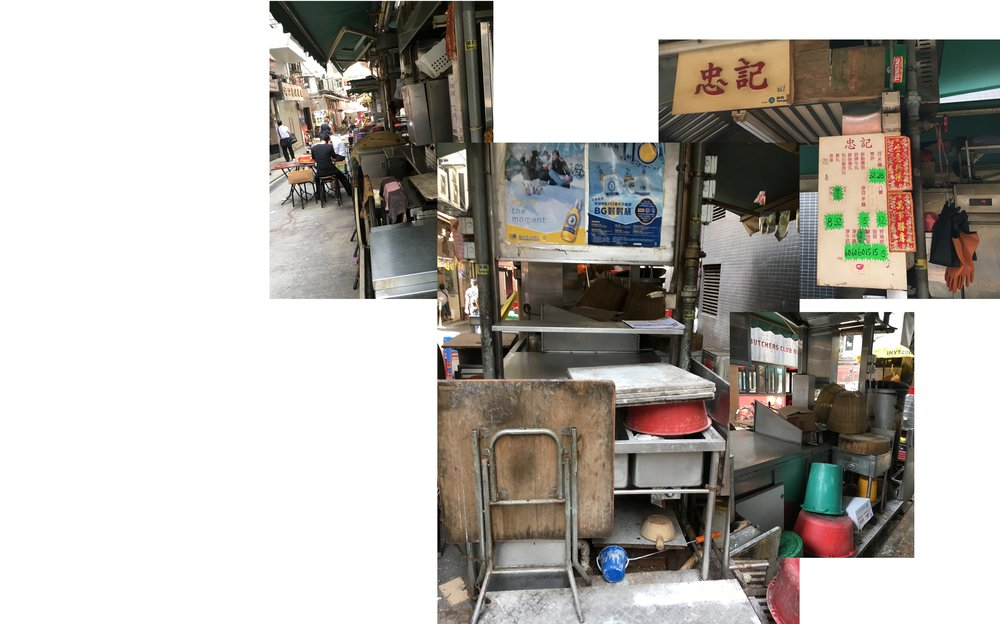 A dai pai dong on Stanley Street in Central, Hong Kong