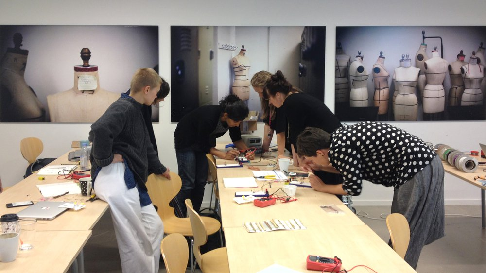 Electronics Workshop, WP3, The Swedish School of Textiles, September 2016