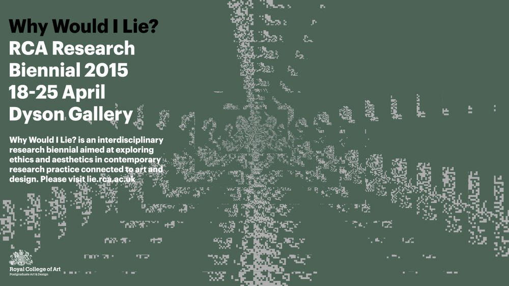 Why Would I Lie? Research Biennial 2015