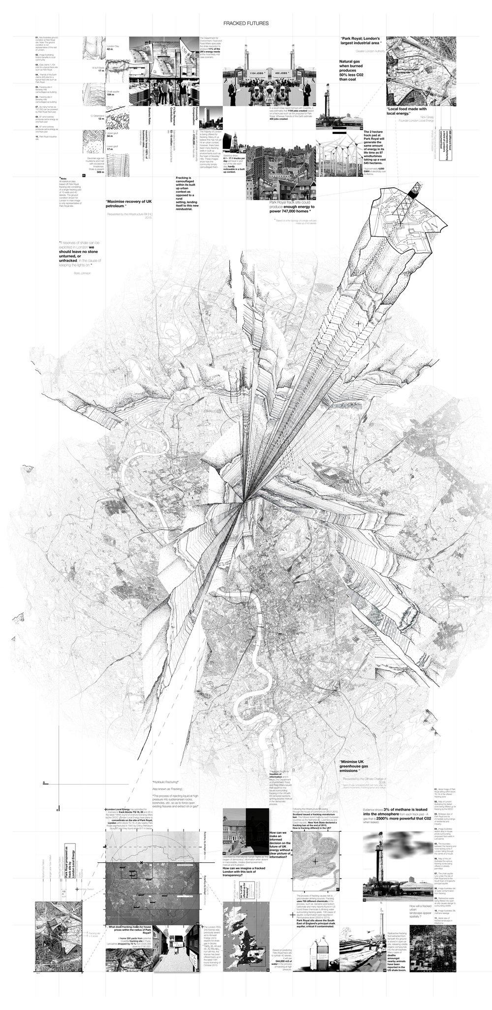 Drawn analysis of physical urban fracktures