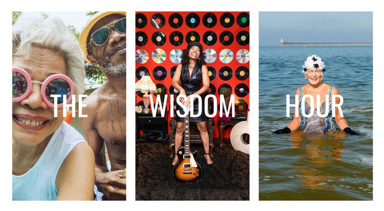A set of images to illustrate The Wisdom Hour series of events