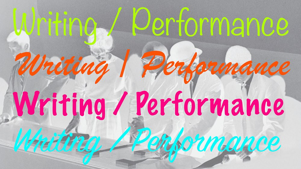 Writing/Performance