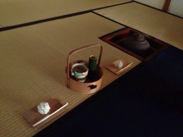 Jōnamagashi served at a casual tea gathering in Kyoto