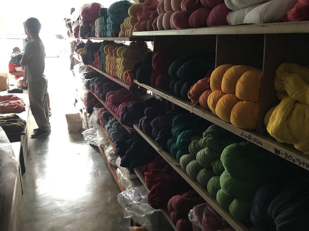 Yarn store in Ban Rai