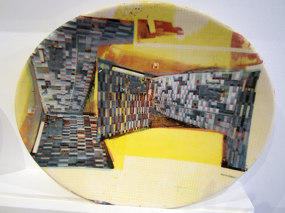 Yellow Elephant and Castle Plate