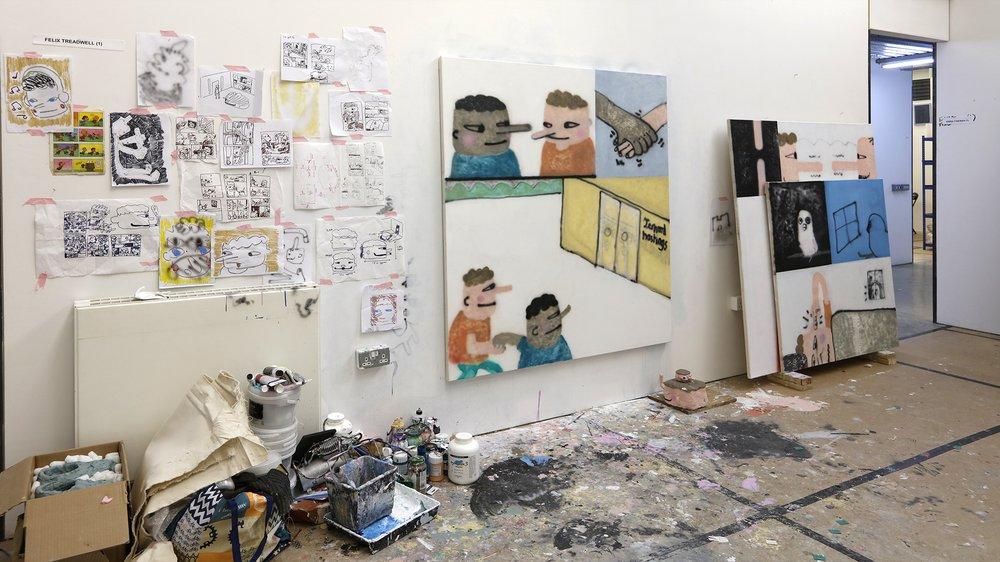 Work-in-progress Show 2017: School of Fine Art, Painting, Felix Treadwell
