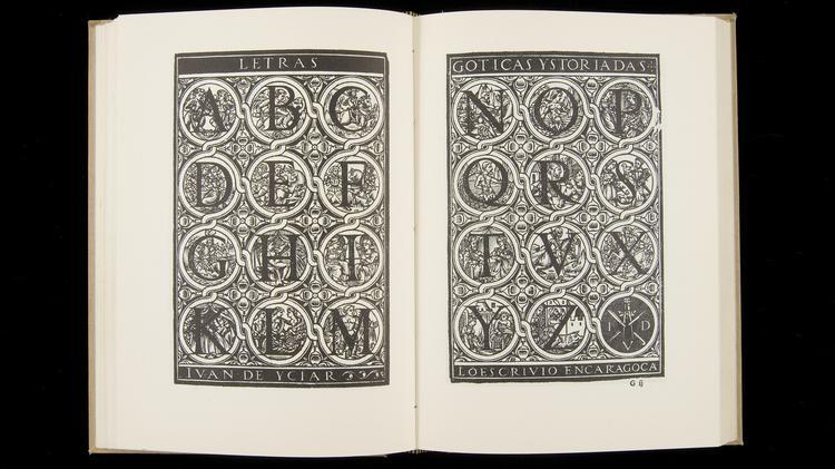 Double-page Spread from Juan de Yciar's Arte Subtilissima