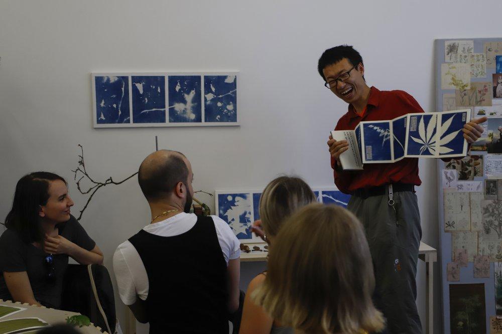 Xinhao Cheng Cyanotype Workshop