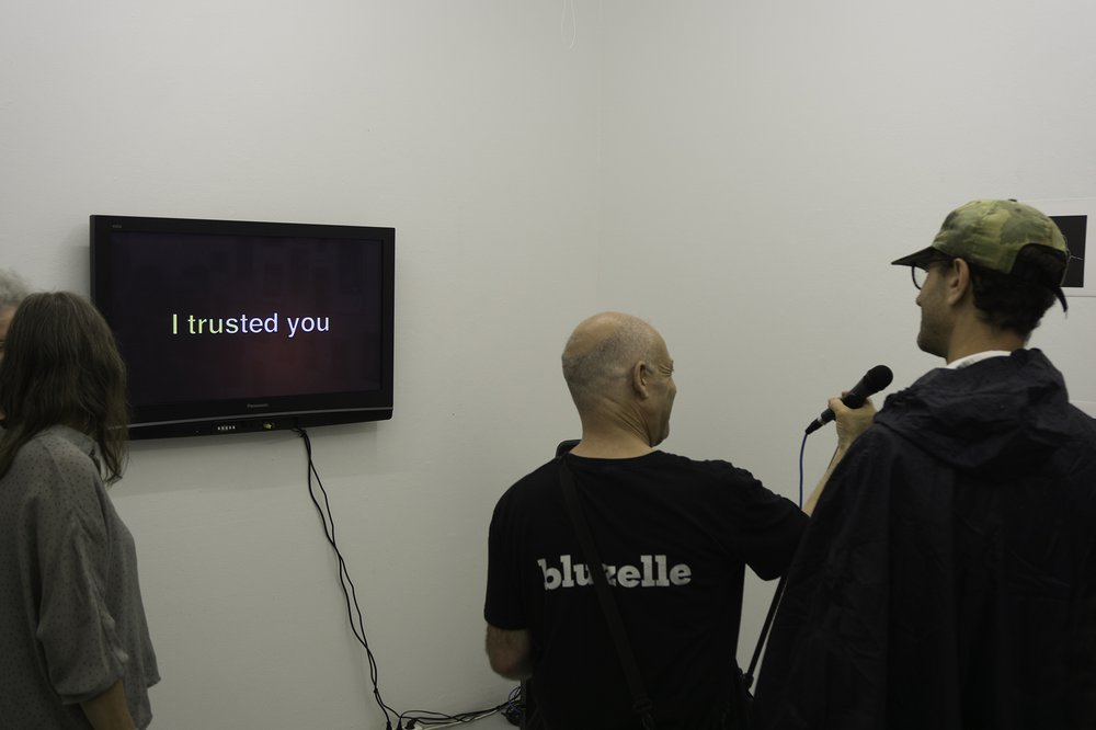 I Trusted You, Looped Karaoke Track, Single channel, monitor, PA system at ID:I Galleri, Stockholm, 2018