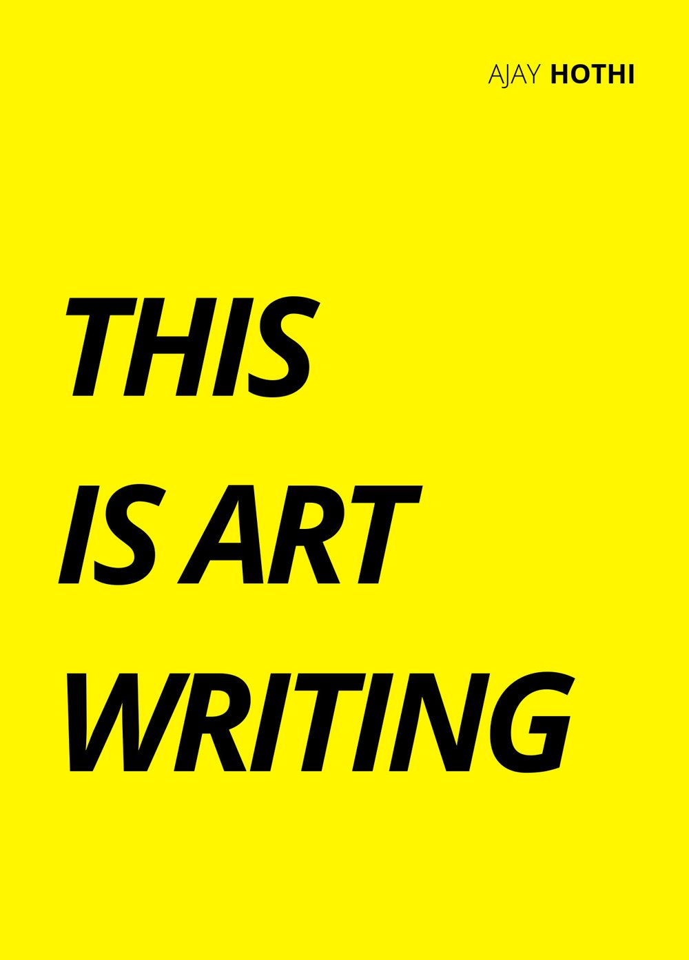THIS IS ART WRITING (front cover)