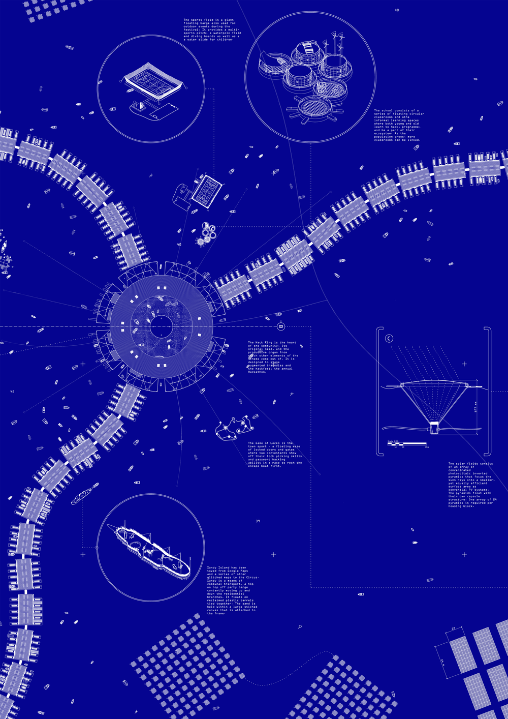 Blueprint for a Hack Circus (detail)