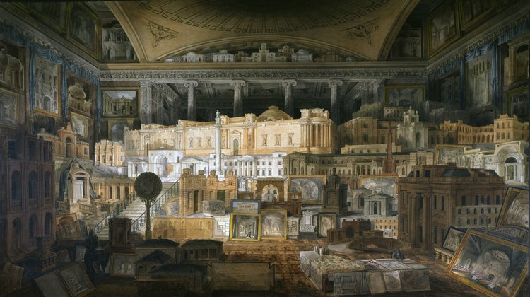 Joseph Gandy (for John Soane) , Various Designs for Public and Private Buildings: 1780-1815