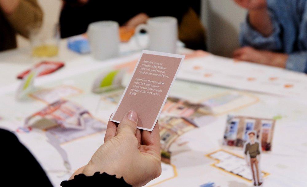 Workshop simulating different target audiences in different scenarios of life