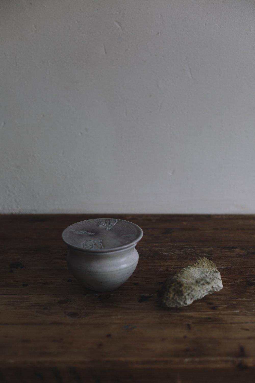Mussel Shell Lidded Pot