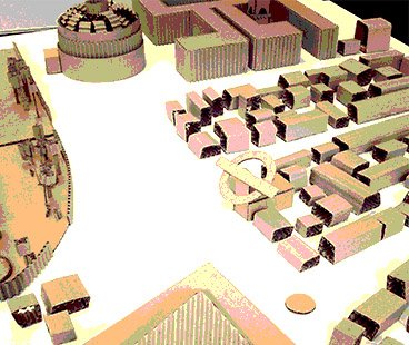 Cardboard city - prototype of the user environment.