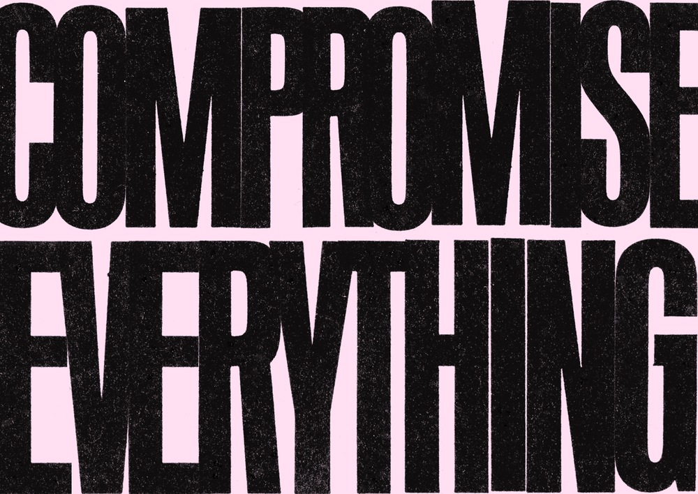 Compromise Everything, Group ∀Ǝ, Typographic Composition, 1971