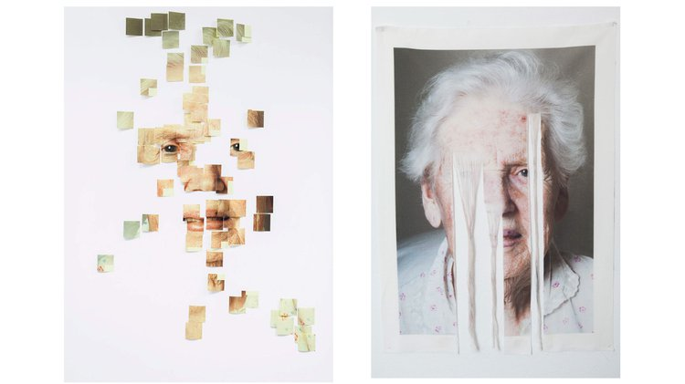 Constanza Valderrama, Grandmother Exercise 1 (left), Grandmother Exercise 2 (right), 2020