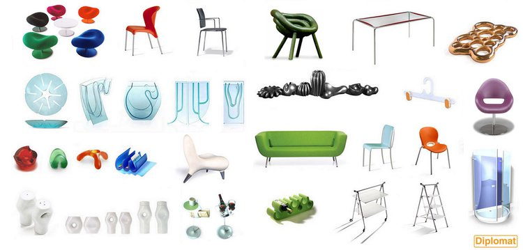 a montage of product design